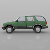 Chevy S10 Blazer 1998 for 3ds and obj - Extended License image 6