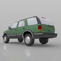 Chevy S10 Blazer 1998 for 3ds and obj - Extended License image 7