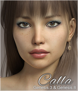 FWSA Calla for Genesis 3 and Genesis 8 3D Figure Assets Sabby