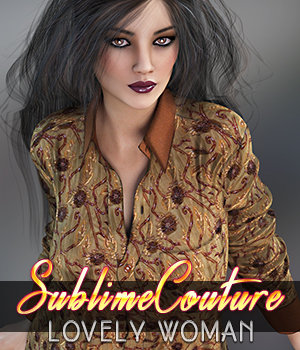 Sublime Couture: Lovely Woman Genesis 3 3D Figure Assets 3DSublimeProductions