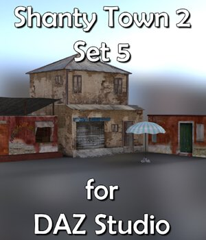 Shanty Town Buildings 2: Set 5 for DAZ Studio 3D Models VanishingPoint