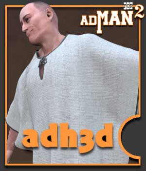 Ancient robes  For AdMan2 3D Figure Assets adh3d