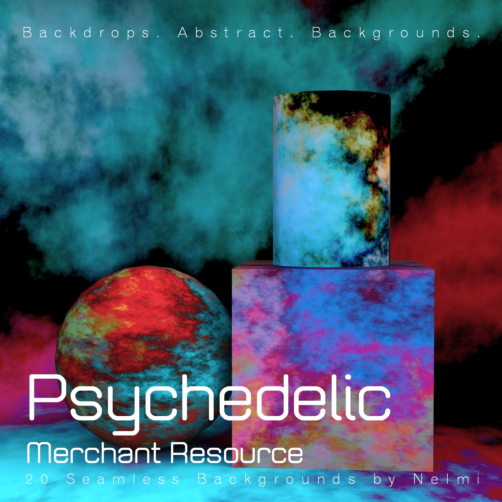 20 Psychedelic Seamless Backgrounds - MR