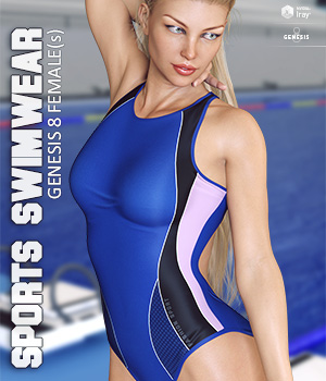 Sports Swimwear for Genesis 8 Females 3D Figure Assets lilflame