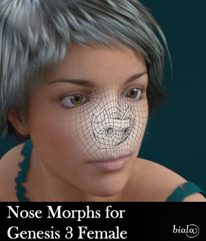 Nose Morphs for Genesis 3 Female 3D Figure Assets biala
