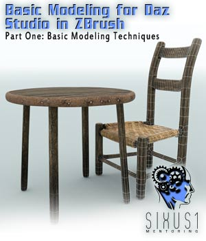 Sixus1 Mentoring Week 1: Basic Modeling In Zbrush For DazStudio Tutorials : Learn 3D sixus1