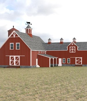 Barn for DAZ Studio 3D Models Digimation_ModelBank