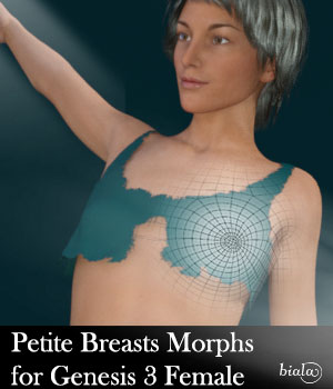 Petite Breast Morphs for Genesis 3 Female 3D Figure Assets biala