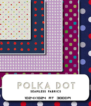 Polka Dot Fabrics :: Seamless Pattern 2D Graphics Merchant Resources Cyrax3D