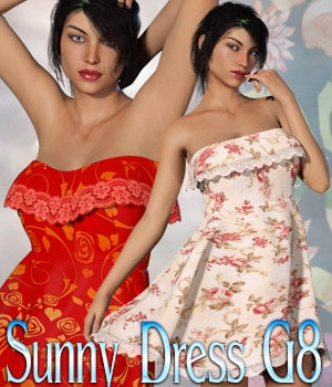 Sunny Dress G8F 3D Figure Assets kaleya
