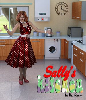 Sally`s Kitchen for DAZ Studio 3D Models VanishingPoint