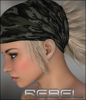 Rebel - Hair and More 3D Figure Assets P3D-Art