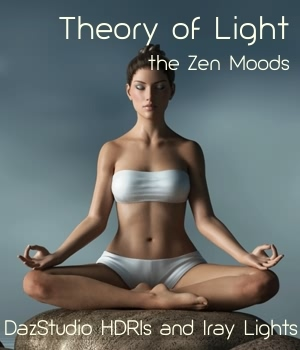 Theory of Light - Zen Moods Iray Lights and HDRIs 3D Software : Poser : Daz Studio fabiana