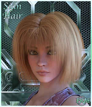Prae-Sian Hair for G3 3D Figure Assets prae