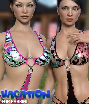 Vacation for Fabkini  3D Figure Assets Silver
