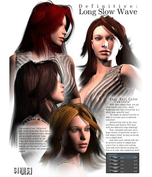 Definitive Hair: Long Slow Wave for V4 3D Figure Assets sixus1
