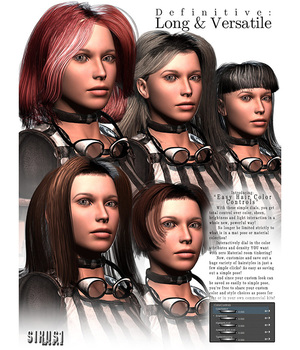 Definitive Hair: Long & Versatile for V4 3D Figure Assets sixus1
