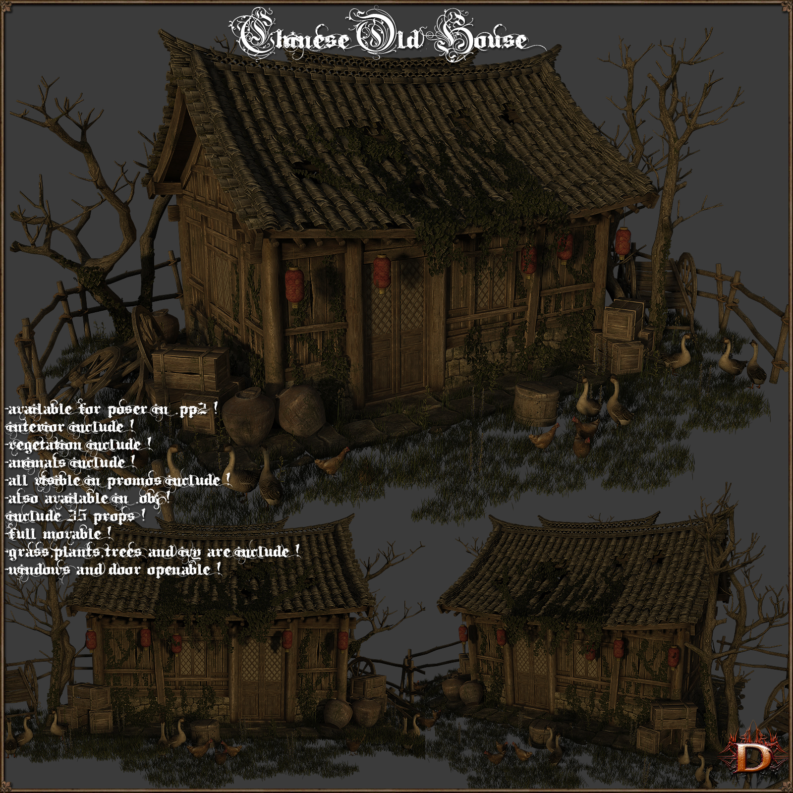 Chinese Old House by Dante78