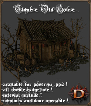 Chinese Old House 3D Models Dante78