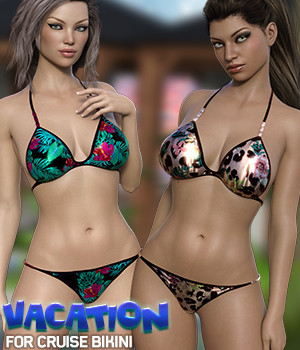 Vacation for Cruise Bikini 3D Figure Assets Silver
