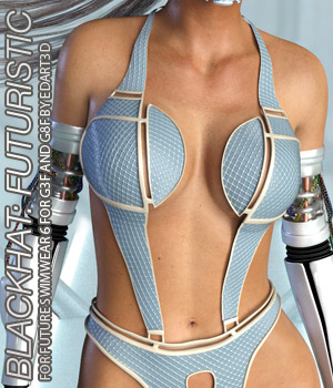BLACKHAT:FUTURISTIC - Future Swimwear 6 for G3F and G8F 3D Figure Assets Anagord