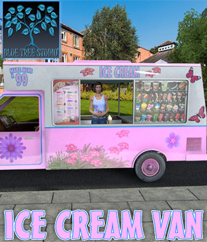 Ice Cream Van 3D Models BlueTreeStudio