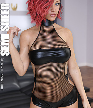 Semi Sheer for Genesis 8 Females 3D Figure Assets lilflame