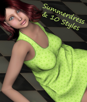 Raffaella Summerdress and 10 Styles   3D Figure Assets karanta