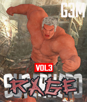 SuperHero Rage for G3M Volume 3 3D Figure Assets GriffinFX