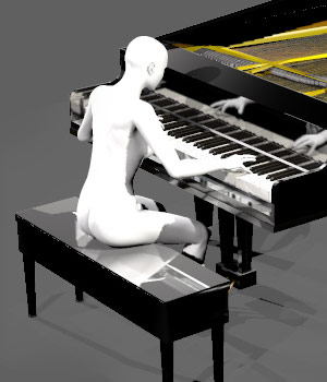 Rock Star Piano 3D Models sixus1