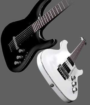 Rock Star Guitar 3D Models sixus1