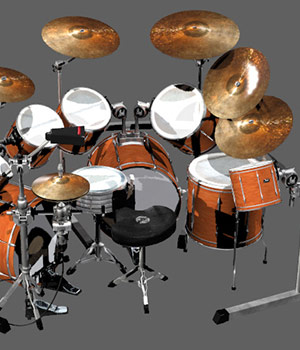 Rock Star Drums 3D Models sixus1