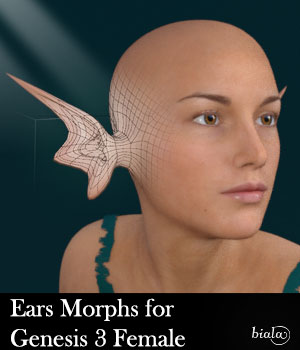 Ears Morphs for G3F 3D Figure Assets biala