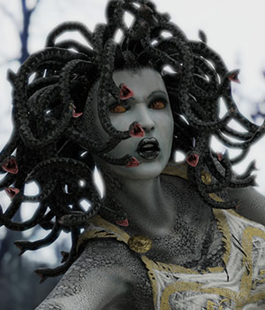 Medusa for V4 3D Figure Assets sixus1