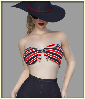 Faxhion - Fifties Fashion Style1 for G8F 3D Figure Assets vyktohria