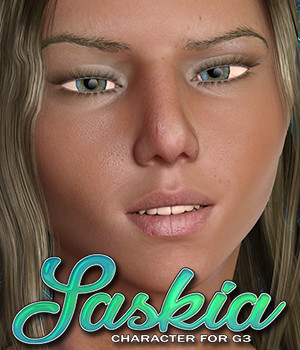 Exnem Saskia for Genesis 3 Female 3D Figure Assets exnem