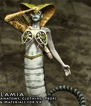 Lamia for V4 3D Figure Assets sixus1