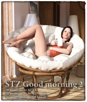 STZ Good Morning 2 3D Figure Assets santuziy78