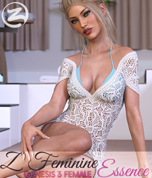 Z Feminine Essence - Poses for the Genesis 3 Females 3D Figure Assets Zeddicuss