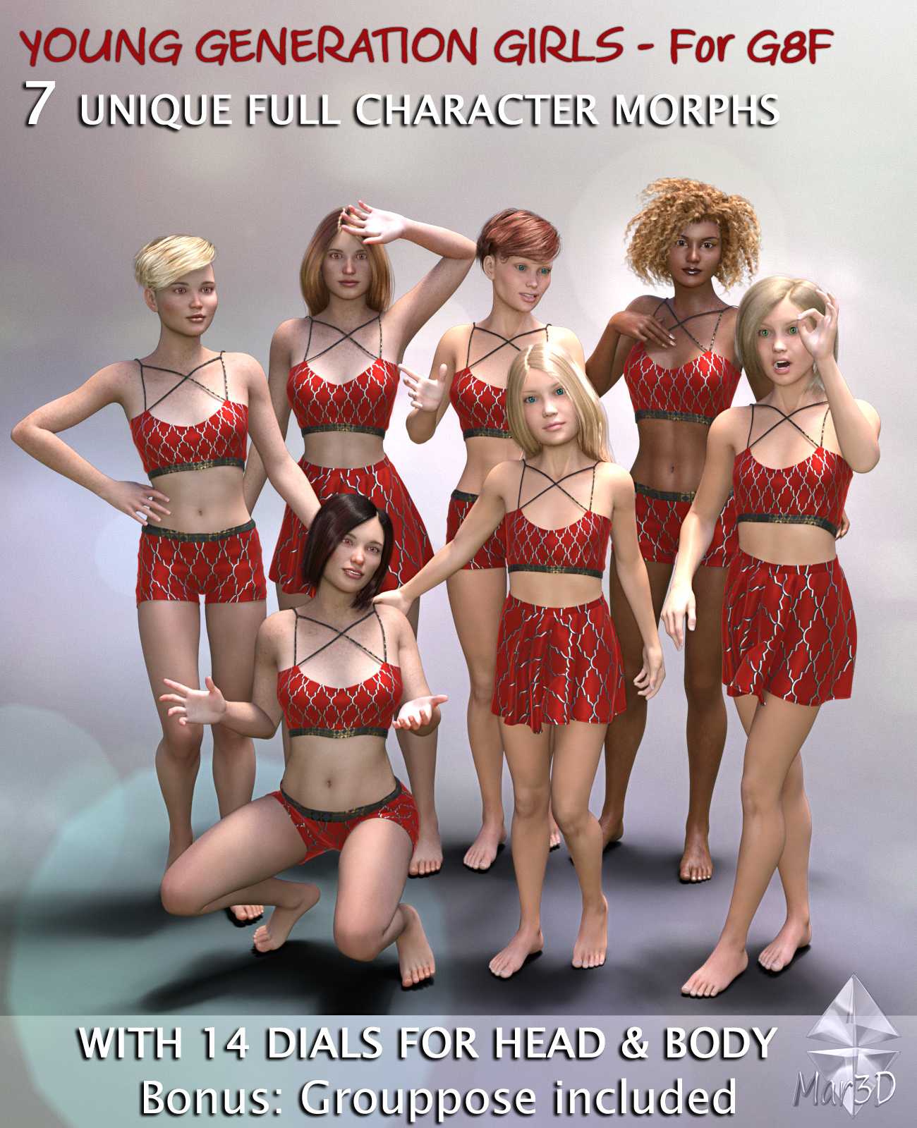 Young Generation Girls G8F  Full Custom Character Morphs