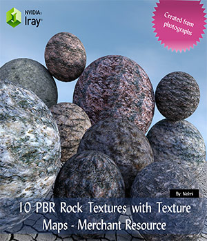 10 PBR Rock Textures with Texture Maps - Merchant Resource 2D Graphics Merchant Resources nelmi