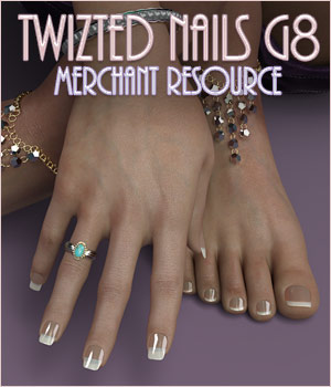 Twizted Nails G8 MR 3D Figure Assets Merchant Resources TwiztedMetal