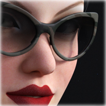 Morphing PinUp Glasses for G3F/G8F and Universal Prop image 5