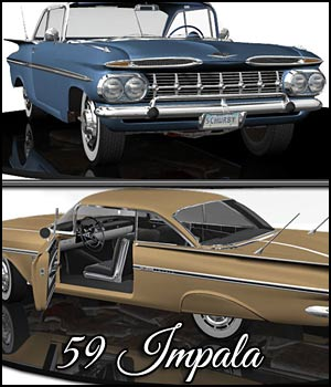59 Impala - Extended License 3D Models Extended Licenses RPublishing