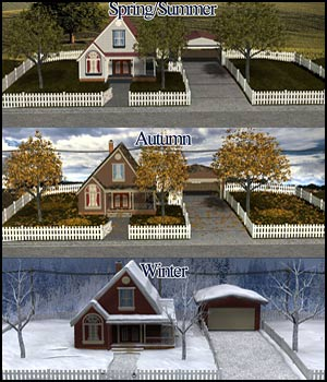 All Seasons Cottage - Extended License 3D Models Extended Licenses RPublishing