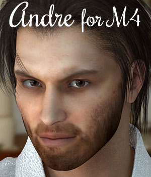 Andre Character for M4 and Genesis - Extended License 3D Figure Assets Extended Licenses RPublishing