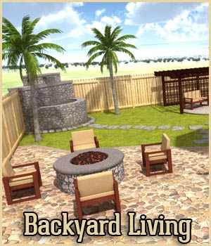 Backyard Living - Extended License 3D Models Extended Licenses RPublishing