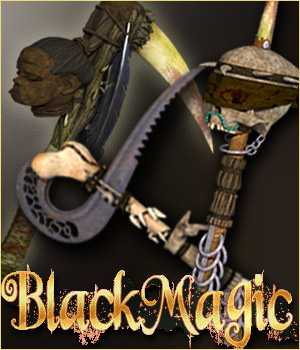 Black Magic Fantasy Weapons (3ds, obj & pp2) - Extended License 3D Models Extended Licenses RPublishing