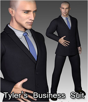 Business Suit for Tyler - Extended License 3D Figure Assets Extended Licenses RPublishing