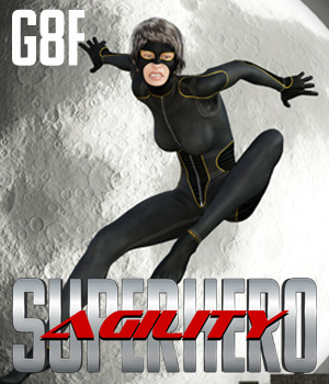 SuperHero Agility for G8F Volume 1  3D Figure Assets GriffinFX